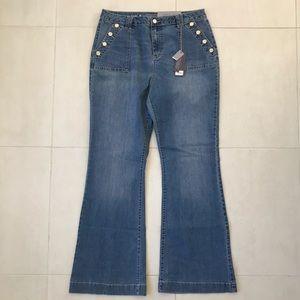 Jennifer Lopez High Rise Flare Stretch Jeans J247